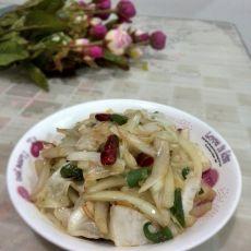 炝炒白菜梗