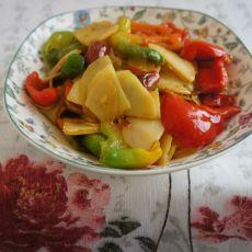 彩椒土豆片的做法