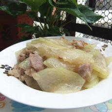 冬瓜炒肉片