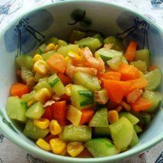 玉米黄瓜炒虾仁