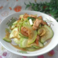 西葫芦炒五花肉