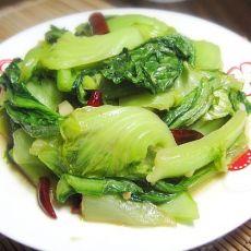 清炒无丝芥菜的做法