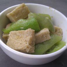 丝瓜冻豆腐