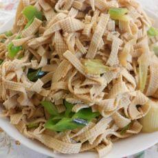 清炒干豆腐丝的做法