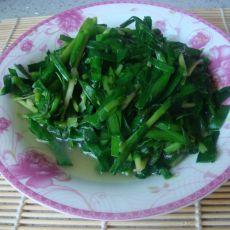 清炒韭菜的做法