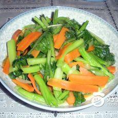 雪菜清炒胡萝卜