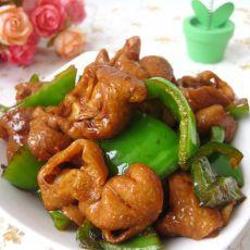 红烧大肠炒青椒