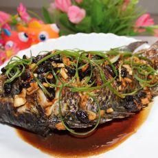 蒜蓉豆豉烧福寿鱼的做法
