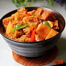 红烧烤麸杏鲍菇