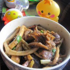 干煸腊肉茶树菇