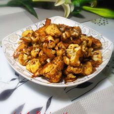 干煸香菇酱花菜