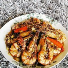秘制酱烧大虾
