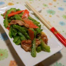 红萝卜苦瓜炒肉片