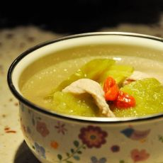 苦瓜肉片汤
