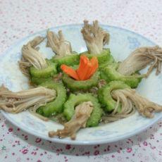 苦瓜圈金针菇的做法