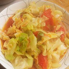 番茄洋白菜的做法