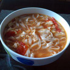 番茄鸡蛋挂面汤