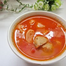番茄贡丸汤