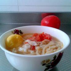 西红柿汤面的做法