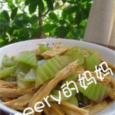 莴苣炒腐竹