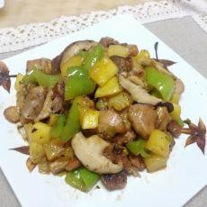 青芒果炒鸡块