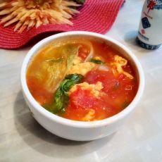 西红柿白菜鸡蛋汤