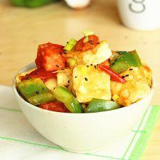 茄汁脆衣豆腐的做法
