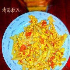 西红柿土豆炒鸡蛋