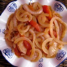 西红柿炒洋葱圈