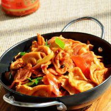 香辣干锅豆皮的做法