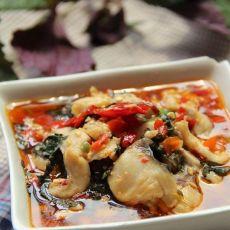 剁椒紫苏汆鱼片
