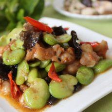 蚕豆炒脆骨肉-蚕豆掌中宝