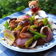 木耳菜椒烩洋葱