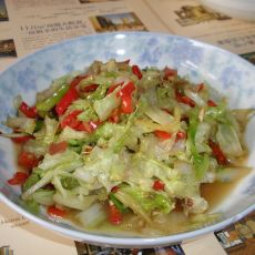 泡椒炒白菜叶