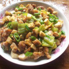 杏鲍菇炒肉丁