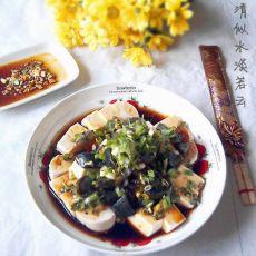 红油香葱皮蛋豆腐