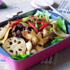 干锅麻辣鸡冠的做法