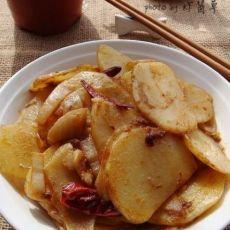 干煸麻辣土豆片炒泡菜