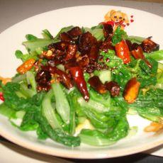 凉拌麻辣小白菜的做法