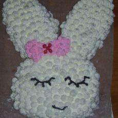 蝴蝶结害羞兔蛋糕