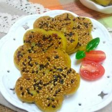 豆沙红薯糯米饼