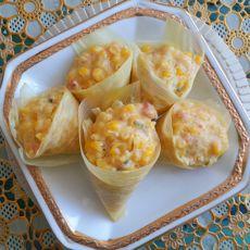 奶香玉米团子的做法