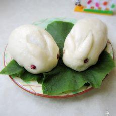 小兔子豆沙包