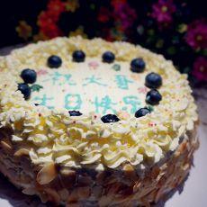 蓝莓奶油蛋糕
