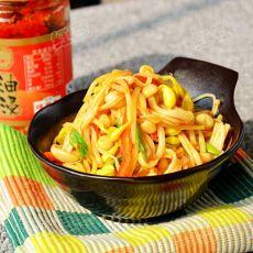 黄豆芽炒金针