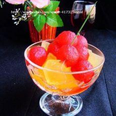 水晶红酒梨球