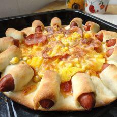 菠萝火腿花边比萨