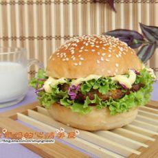 田园鸭排汉堡的做法