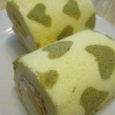 芒果奶油印花蛋糕卷