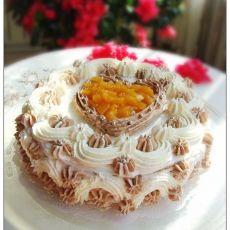 可可奶油生日蛋糕